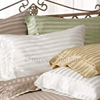 Silk Sheets in Silk Satin Stripes Sheet Set - by Empress Silk