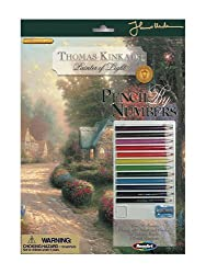 Thomas Kinkade Pencil By Number Cobblestone Lane By Mega Brands