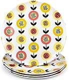 "Melamine Plates - Set of 4 'Papaya' 10"" Dinner Plates by The Radish Store."