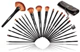 SHANY Studio Quality Natural Cosmetic Brush Set with Leather Pouch, 24 Count