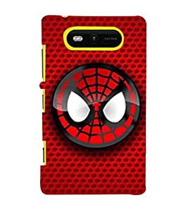 EPICCASE Smiley Spidey Mobile Back Case Cover For Nokia Lumia 820 (Designer Case)
