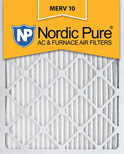 Nordic Pure 14x25x1 MERV 10 Pleated AC Furnace Air Filter, Box of 6