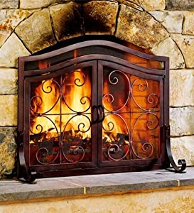 Solid fire screens