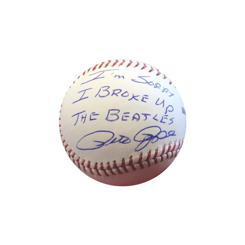 "Pete Rose ""I'm Sorry I Broke Up the Beatles"" Hand Signed Autographed Baseball PSA/DNA Certified Sports Collectibles"