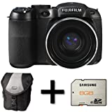 Fujifilm FinePix S2980 Digital Camera + Case and 8GB Memory Card (14MP, 18x Optical Zoom) 3 inch LCD Screen