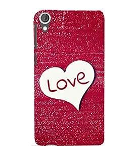 EPICCASE glittery love Mobile Back Case Cover For HTC Desire 820 (Designer Case)