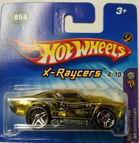 Hot Wheels 2005 First Editions X-Raycers '69 Chevelle #054 4/10 SHORT CARD - 1