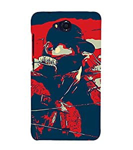 Man Abstract 3D Hard Polycarbonate Designer Back Case Cover for Micromax Bolt Q335