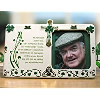 Irish Bereavement Memorial Photo Frame Celtic Sympathy Remembrance Picture Frame In Loving Memory - Ceramic - 10
