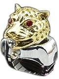 カッコかわいい タイガー風 リングウォッチ 指時計 おしゃれ かわいい かっこいい カジュアル 時計 (ゴールド)