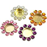 Set Of 4 Diwali Diya Lights Candle Holder Home Decoration