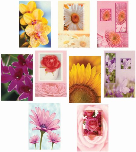 Floral Pack of Birthday Greeting Cards