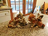 Vintage Adorable Enesco Dogs and Cats At Play Figurines E9404