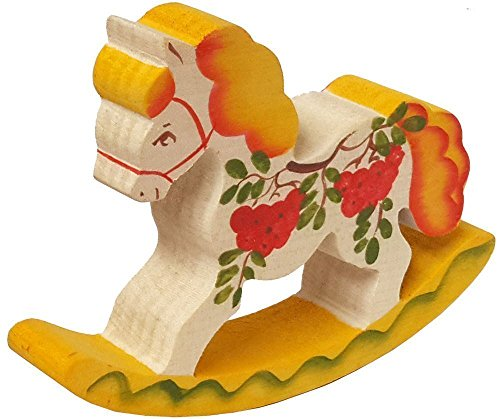 Small Rocking Horse - Handmade Wooden Toy For Kids - Hand-painted Wedding Horse - Cute Souvenir - Made in Russia - 2