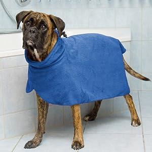 Trixie Dog Bathrobe, M, 50 cm, Blue