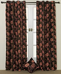 Brown and orange curtains 2