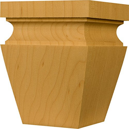 Hartford Square Tapered Foot in Knotty Pine - Dimensions: 4 x 3 inches (Unfinished Wood Bun Feet compare prices)