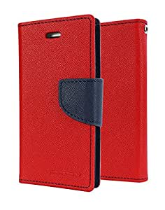 Relax And Shop Luxury Wallet Style Flip Cover for HTC Desire 826-Red