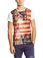 American People Camiseta Manga Corta Andre (Multicolor / Blanco)