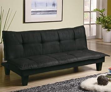 Sottobicchiere mobili casual imbottita convertibile divano letto in nero CO300238