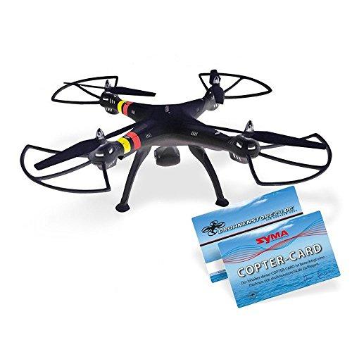 efaso-Quadcopter-Syma-X8C-24-GHz-4-Kanal-Quadrocopter-mit-3-MP-Weitwinkel-HD-Kamera-Headless-Mode-Rotorschutz-LED-Beleuchtung-6-Achsen-Gyro-und-Flip-Funktion-schwarz
