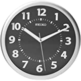 Seiko Wall Clock Silver-Tone Metallic Case Luminous  Numerals