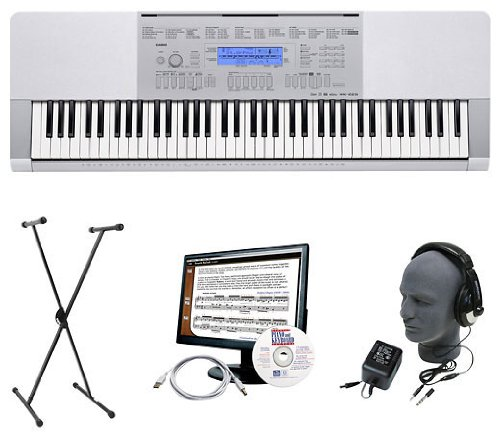 Casio WK225 EPA Premium Keyboard Package with Headphones, Stand, Power Supply, 6-Feet USB Cable and eMedia Instructional Software