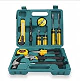 12pcs Professional Hardware Tools Set Accessory Repair Home Tool-Box Kits Case / Hand Tools Sets Screwdrivers Kits Toolbox Garden Home Diy Household Complete Small Repair Hardware Accessory Combination Pliers Adjustable Wrench Claw Hammer Utilit