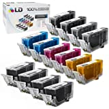 LD © Canon PGI220 & CLI221 Compatible Set of 14 Ink Cartridges for the MP980: 4 Pigment Black PGI220, 2 each of CLI221 Black / Cyan / Magenta /Yellow / Gray