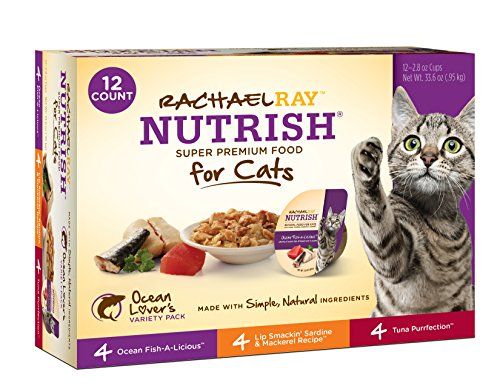 Rachael Ray Nutrish Natural Wet Cat Food, Variety Pack, Fish Lovers, Grain Free, 2.8 oz tub, Pack of 12 (Wet Cat Food Grain Free compare prices)