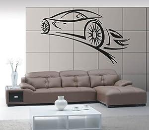 Amazon.com: Wall Stickers Vinyl Decal Sport Car Racing Speed Luxury