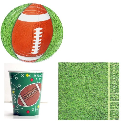 Football Party Set for 8 - Team Party or Superbowl Party