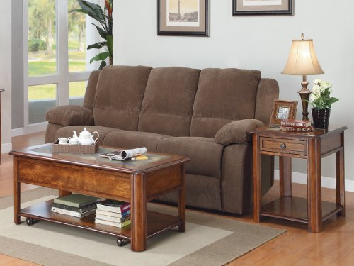 Mcmillen 2 Pc Occasional Table Set By Home Elegance In Burnish Oak front-669099