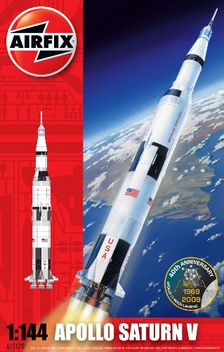 Airfix A11170 1:144 Scale Nasa Apollo Saturn V Rocket Model Kit (Saturn 5 Rocket Model compare prices)