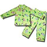 Holiday Snowman Flannel Pajamas For Girls