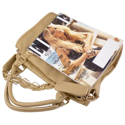 MG Collection EIDER Gold Chain Decor Office Hobo Shoulder Bag / Handbag