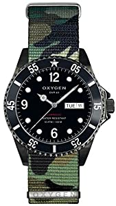 OXYGEN Moby Dick Black 40 unisex quartz Watch with black Dial analogue Display and multicolour nylon Strap EX-D-MBB-40-NN-AR
