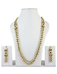 Indian Bollywood Inspired Long Ranihaar Ethnic Bollywood Necklace Earrings Set Exclusive Jewelry