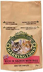 Harringtons Complete Cat Food Salmon with Rice 2 Kg (Pack of 4)
