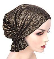 The Abbey Cap in Exotic Gold Print