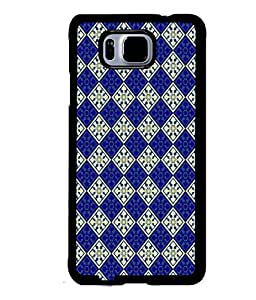 Fuson Premium Royal Pattern Metal Printed with Hard Plastic Back Case Cover for Samsung Galaxy Alpha