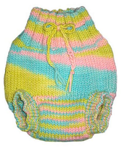 Pea Patch Diaper Soaker Knitting Pattern