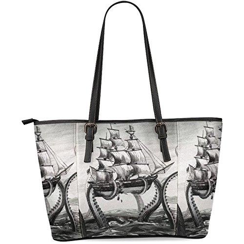 Ewa Ocean Animals Octopus Women's Leather Tote Shoulder Bags Handbags