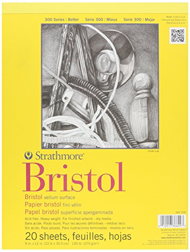 strathmore-bristol-vellum-paper-pad-9-x-12-20-fogli