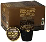 EKOCUPS Organic Artisan Coffee Bold, Dark roast for Keurig K-cup single serve Brewers, 0.5 Ounce, 10 count made by Crazy Cups