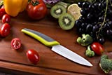 """Savvy Living NanoRazor 6"""" Professional Ceramic Chefs Knife - The most durable ceramic blade on the market - Vegetable and Fruit Cutlery choice by many professional chefs - Thanksgiving weekend sale (White)"""