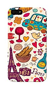 CimaCase Paris Abstract Designer 3D Printed Case Cover For Apple iPhone 5S