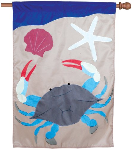 Premier 52636 House Applique Flag, Blue Crab, 28 by 40-Inch
