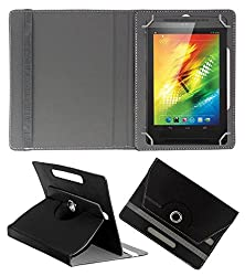 ACM ROTATING 360° LEATHER FLIP CASE FOR XOLO PLAY TEGRA NOTE TABLET STAND COVER HOLDER BLACK