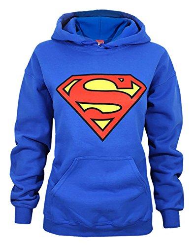 Donne - Official - Superman - Felpa Con Cappuccio (XL)